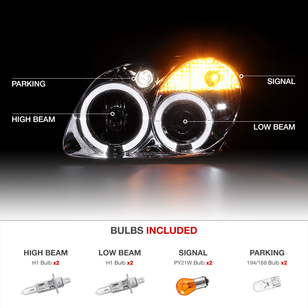 1998 2004 R170 Slk230 Slk55 Amg Euro Projector Halo