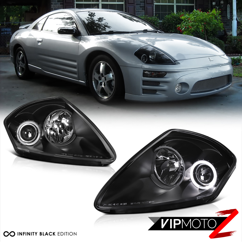 Mitsubishi Eclipse Gs: MIT Eclipse V6 00-02 GT/RS/GTS Black Halo Projector