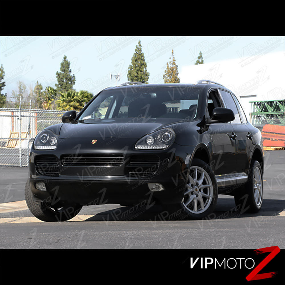2003 2006 porsche cayenne 955 xenon hid black left right headlights lamp led drl ebay. Black Bedroom Furniture Sets. Home Design Ideas
