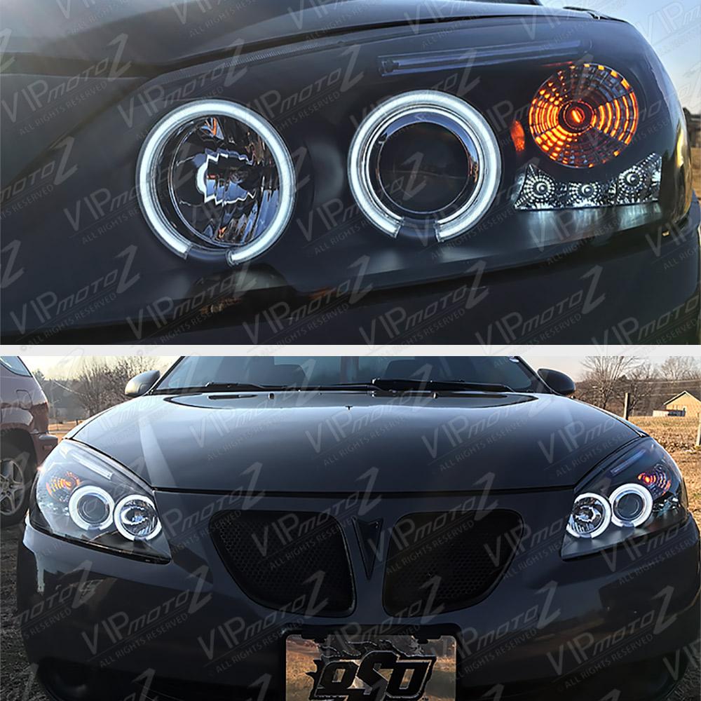 2005 2010 Pontiac G6 Gt Base Black Quot Halo Led Quot Projector