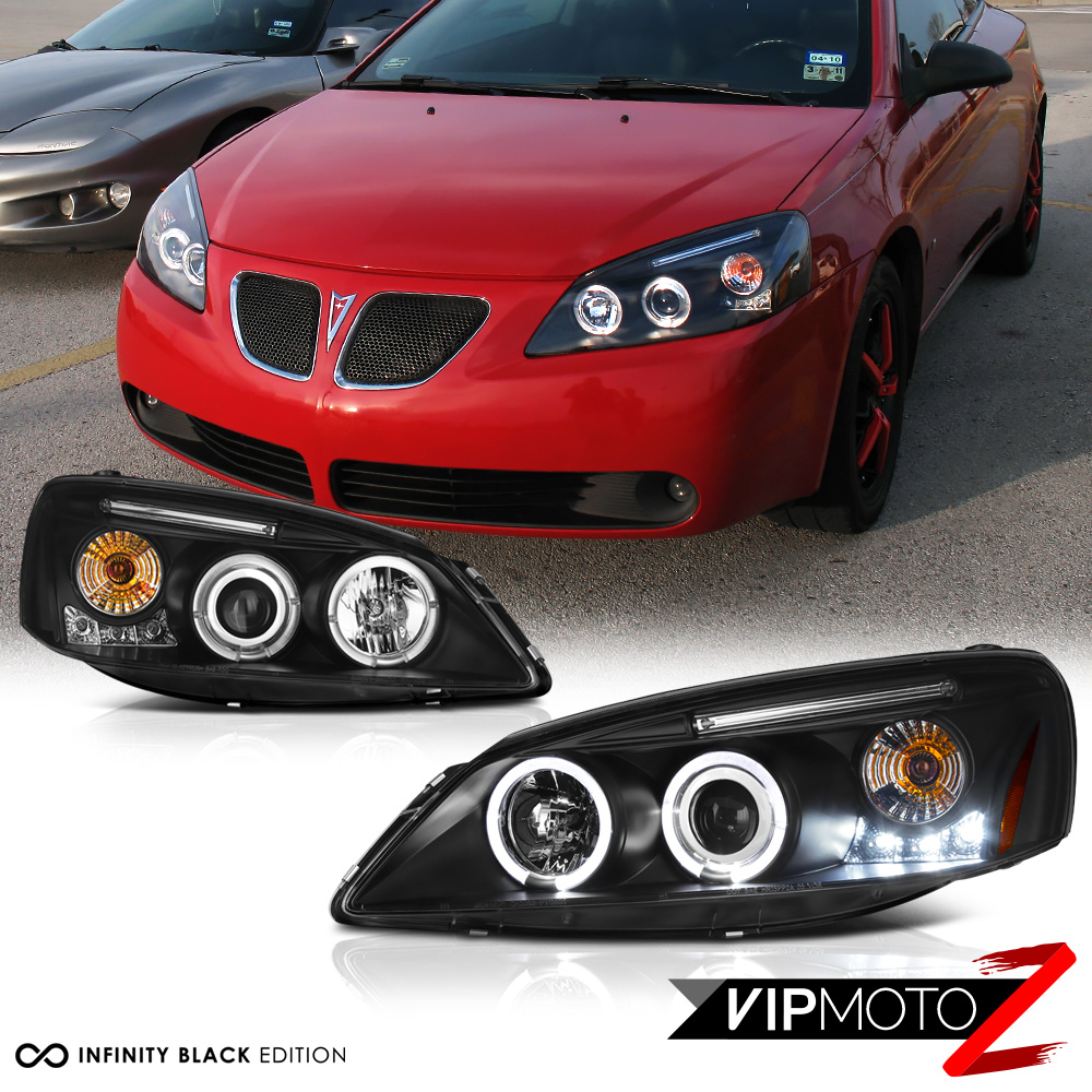 2005 2010 Pontiac G6 Gt Base Black Quot Halo Led Quot Projector