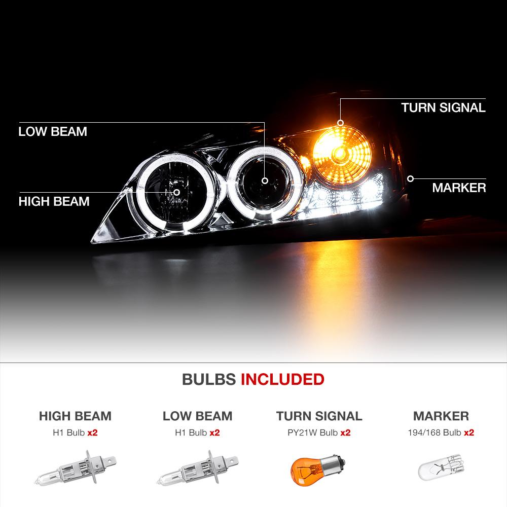 Halo Projector Smoke Headlight 2005 2009 Pontiac G6 Gxp Gt