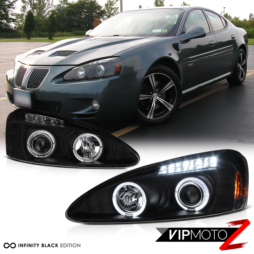 08: Black Halo Angel Eye Projector Headlight 04-08 Pontiac