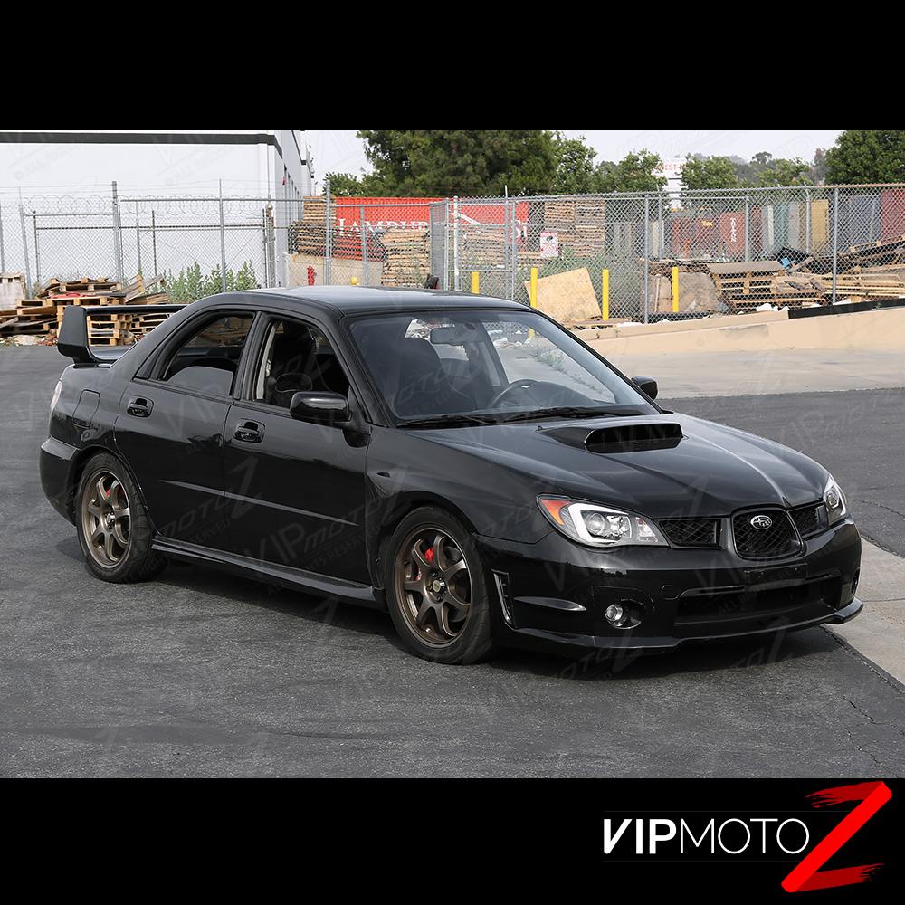 Quot Newest Design Drl Quot Black Projector Headlight Factory Xenon For 06 07 Subaru Sti Ebay