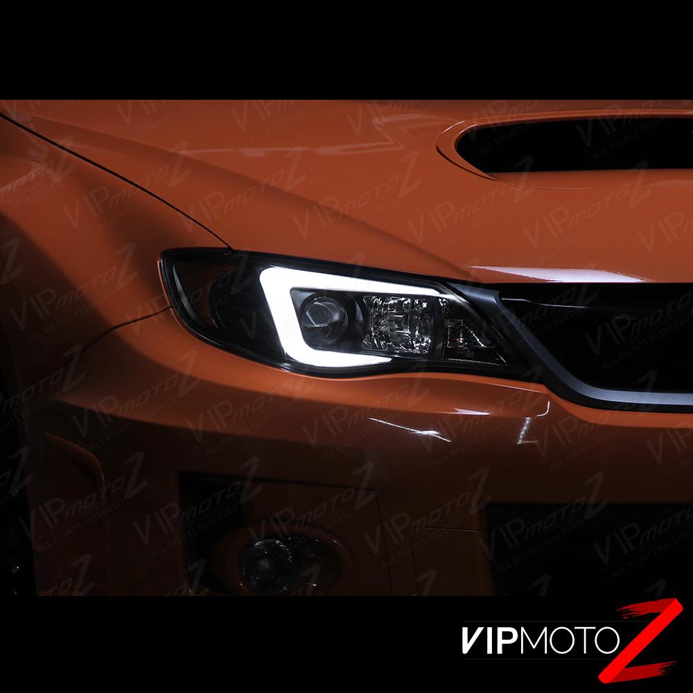 "Raj D S 2014 Impreza Wrx Premium: ""C-Shape OLED Tube"" Headlights Lamps For 2008-2014 Subaru"