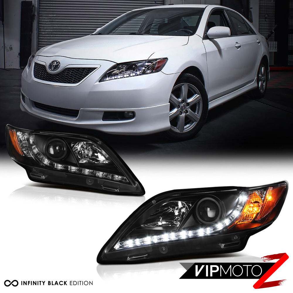 2007 2009 toyota camry newest led drl projector headlights headlamp left right ebay. Black Bedroom Furniture Sets. Home Design Ideas