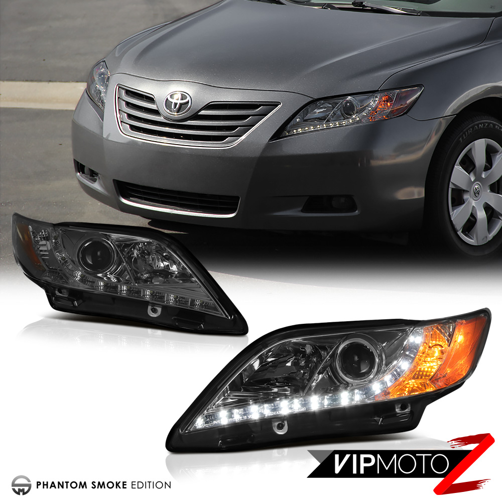 2007 2009 toyota camry le se ce projector smoke headlight l r drl daytime lamp ebay. Black Bedroom Furniture Sets. Home Design Ideas