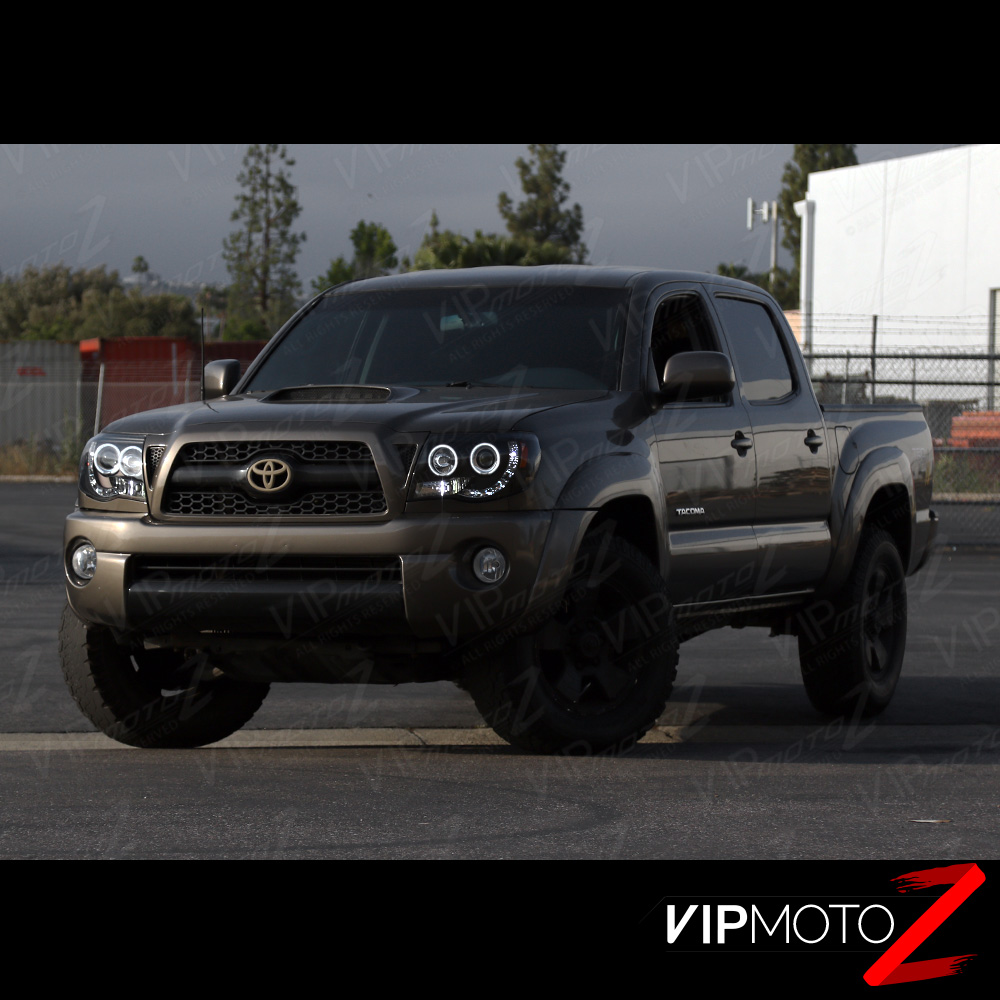 Toyota Tacoma Access Cab >> 2005-2011 Toyota Tacoma Black HALO LED Projector Headlights Pre Runner X Runner | eBay