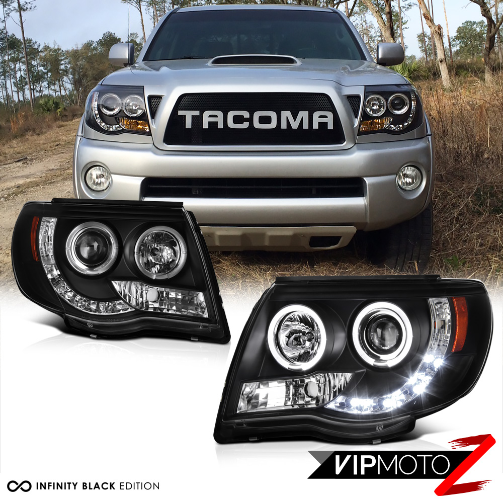 For 2005 2011 Toyota Tacoma Halo Led Projector Headlights