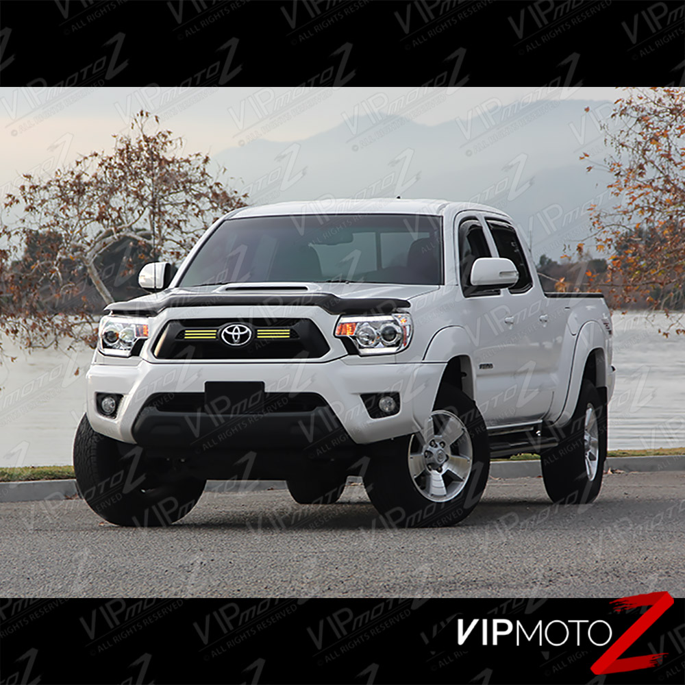 tribal edition 2012 2015 toyota tacoma prerunner chrome neon tube headlights ebay. Black Bedroom Furniture Sets. Home Design Ideas