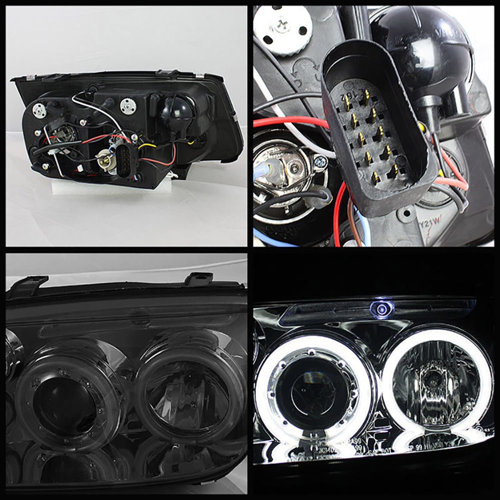 Mk4 Jetta Fog Light Wiring Diagrams Diagram 1999 2005 Vw Left Right New Ccfl Halo Angel Eye Lights Headlight Eyelids
