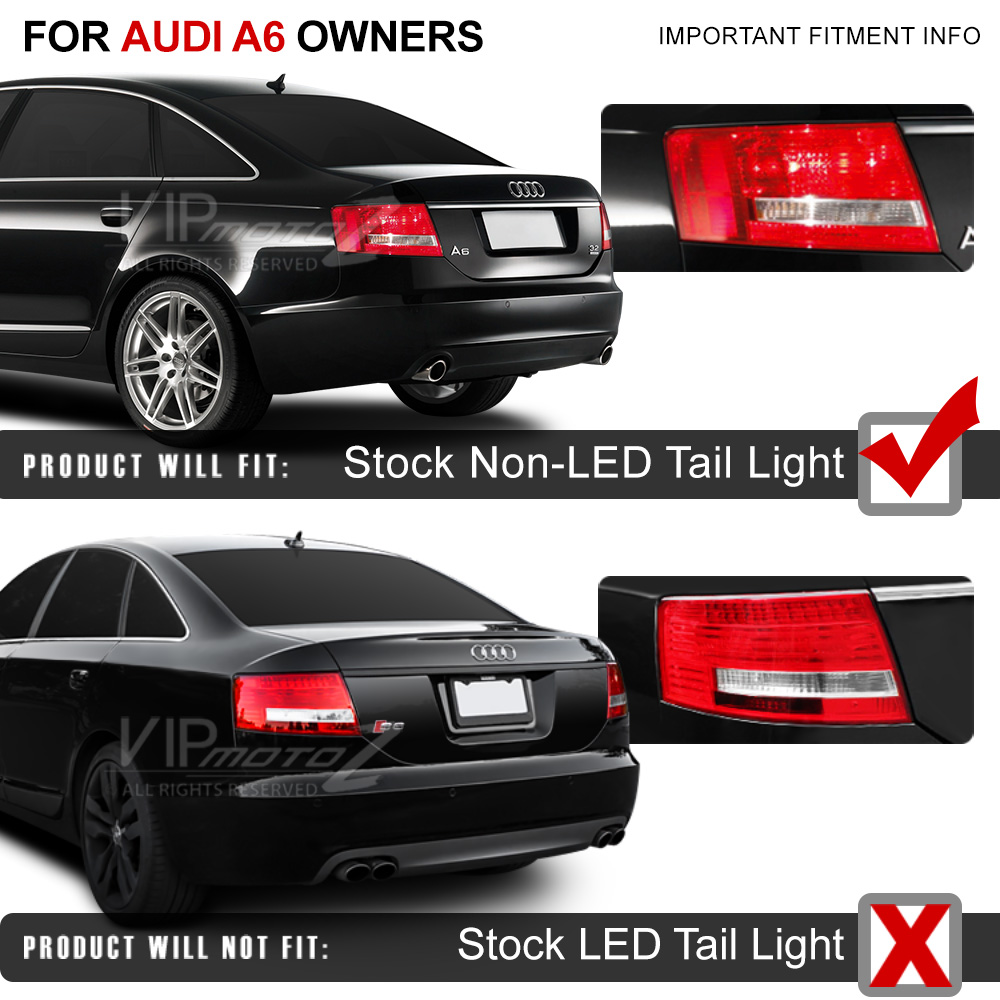2005 2008 audi a6 c6 s6 a6l black led fiber optic rear brake tail light typ 4f ebay. Black Bedroom Furniture Sets. Home Design Ideas