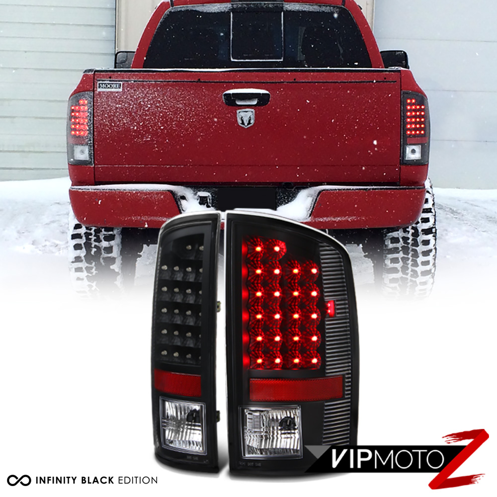 New Black 2002 2006 Dodge Ram 1500 Led Rear Tail Light