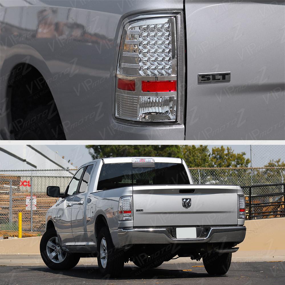 2009-2017 Dodge Ram 1500 2500 3500 Chrome LED Brake Tail