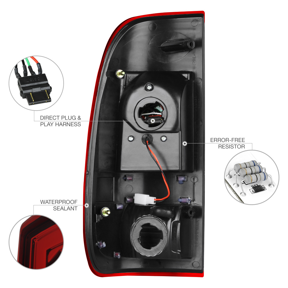1999 2006 ford f250 f350 f450 superduty red led rear tail. Black Bedroom Furniture Sets. Home Design Ideas
