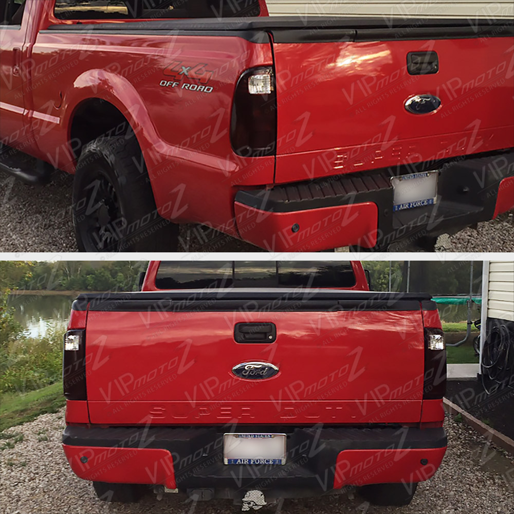2008 2016 ford f250 f350 f450 superduty sd dark red rear tail lights assembly ebay. Black Bedroom Furniture Sets. Home Design Ideas