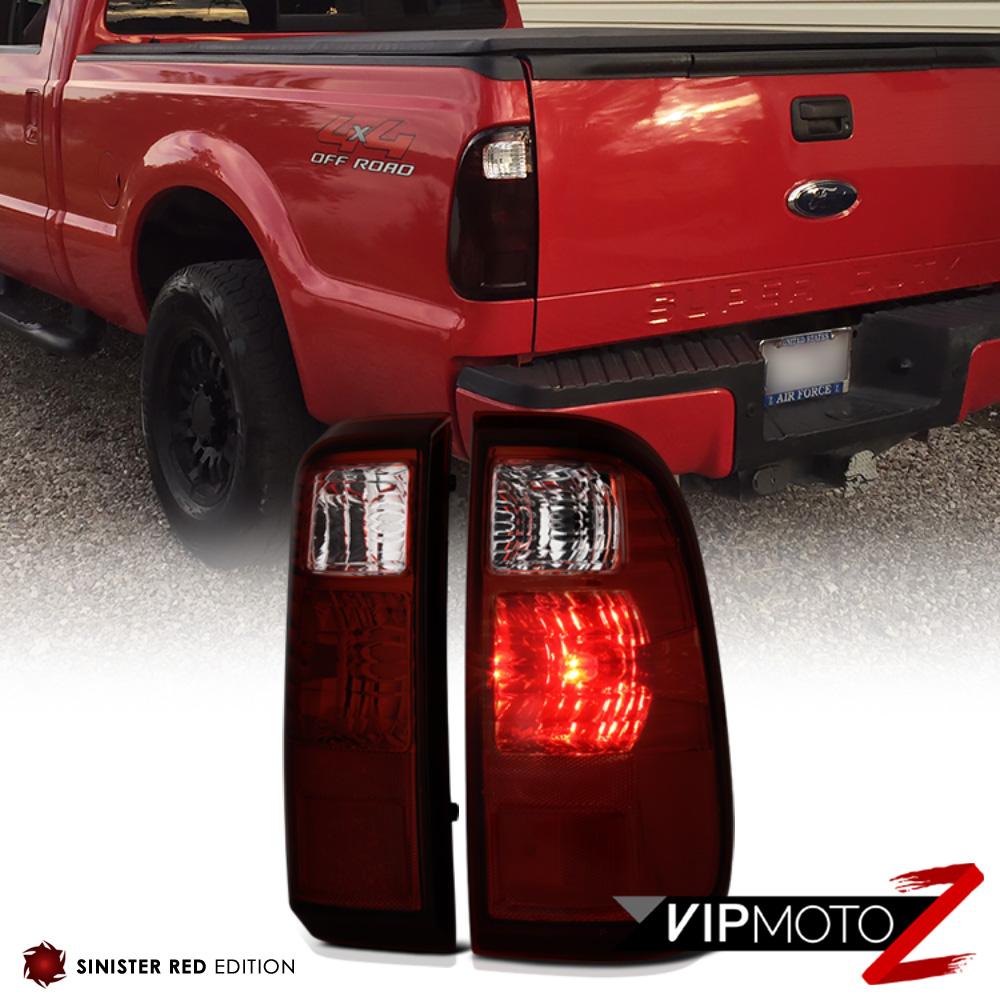 2008-2016 Ford F250 F350 F450 SuperDuty SD Dark Red Rear