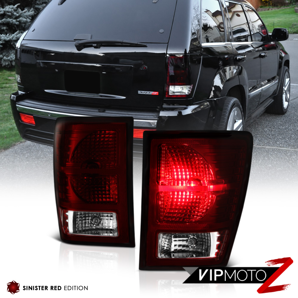 08 10 jeep grand cherokee wk fog lights smoked red rear. Black Bedroom Furniture Sets. Home Design Ideas