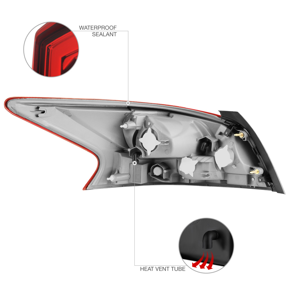 passenger side tail light lamp replacement rh for 2013 2015 nissan altima sedan ebay. Black Bedroom Furniture Sets. Home Design Ideas