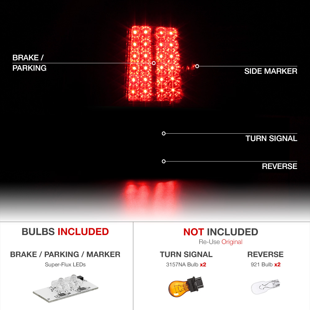 2010 Toyota Tundra Crewmax 2007-2013 Toyota Tundra Trd Red/Clear LED Tail Light Brake ...