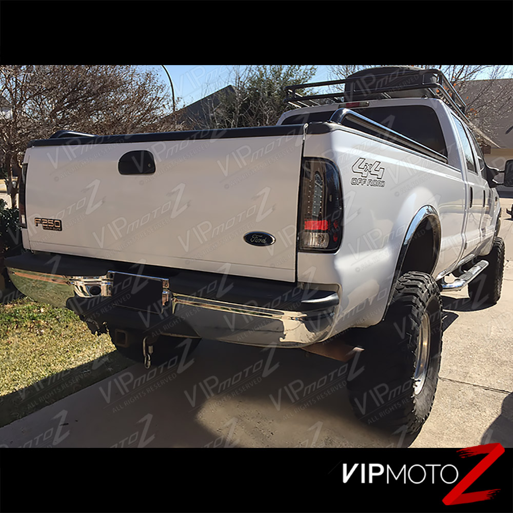 1999-2006 F250 F350 Black LED Rear Tail