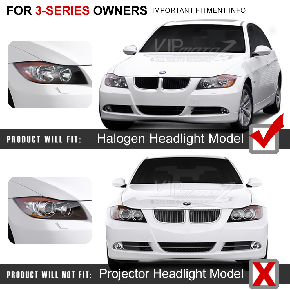2006 2008 Bmw E90 3 Series Twin Quot Ccfl Quot Halo Angel Eye