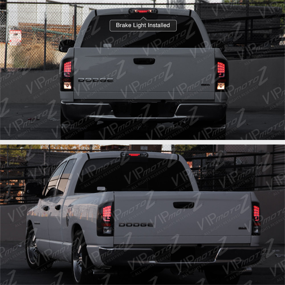 2002-2008 Dodge Ram Smoke Tinted LED 3rd Third Brake Roof