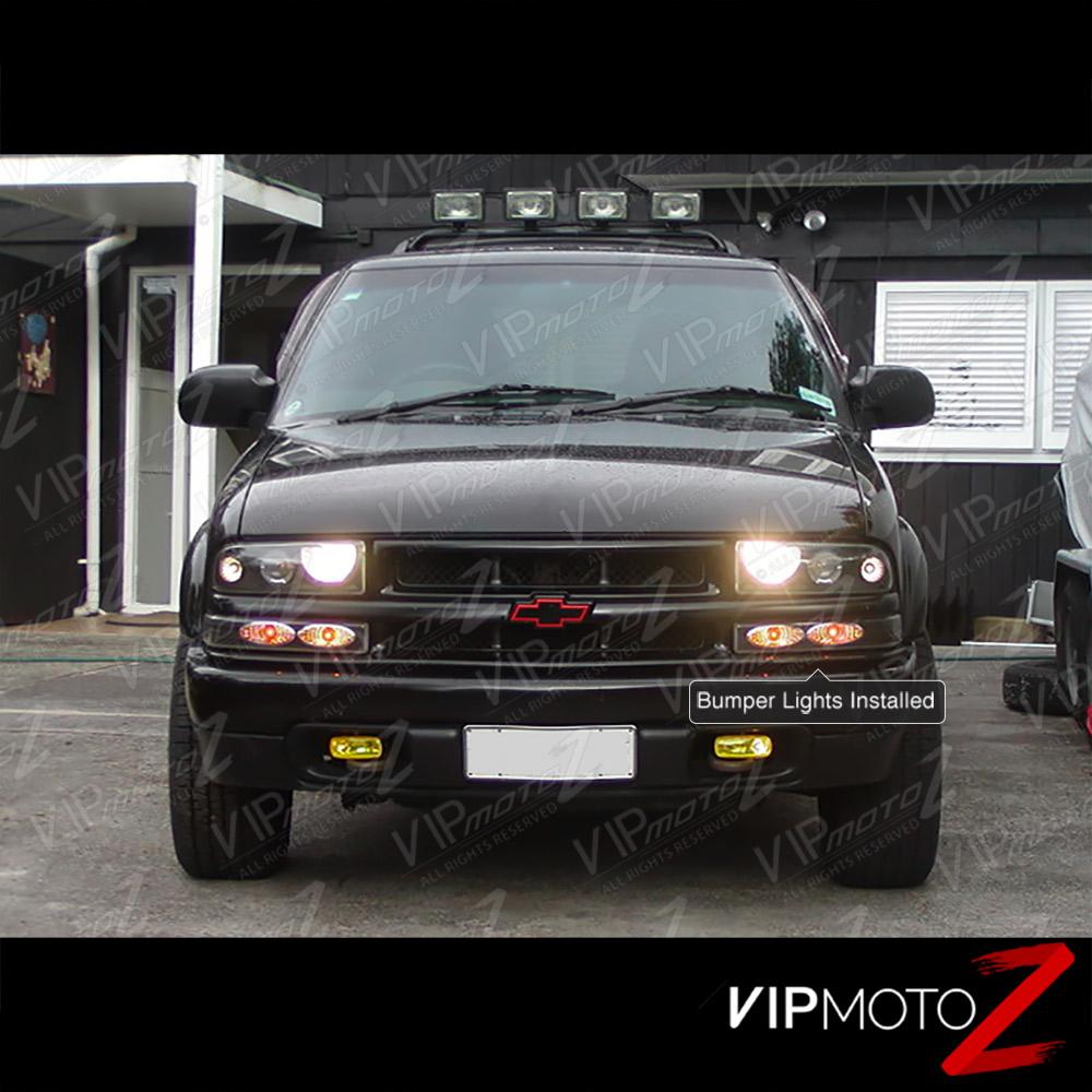 Chevrolet Blazer 1998 2003 Black W Amber Reflector Front