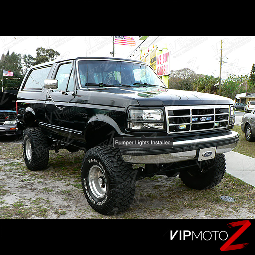 Ford F 250 Custom Bumpers : Clear reflector ford bronco f