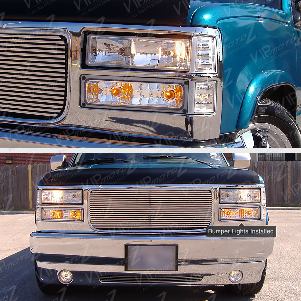 [PAIR] 1994-1998 Chevy GMC C/K Suburban Clear Front Turn