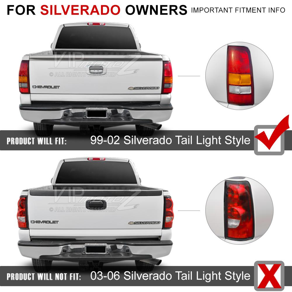 Chevy Silverado 99-2002 GMC Sierra Truck SMOKED Ultra