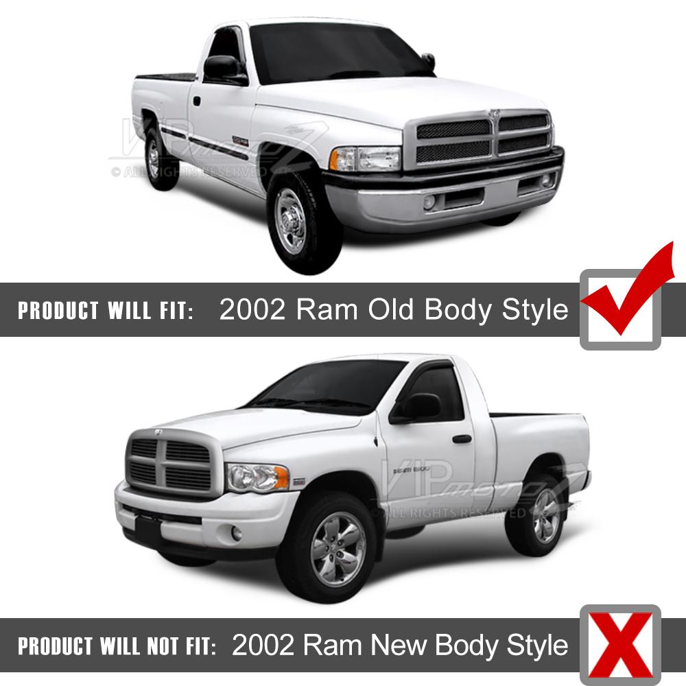 1994-2001 Dodge Ram 1500/2500/3500 Chrome Clear Halo LED