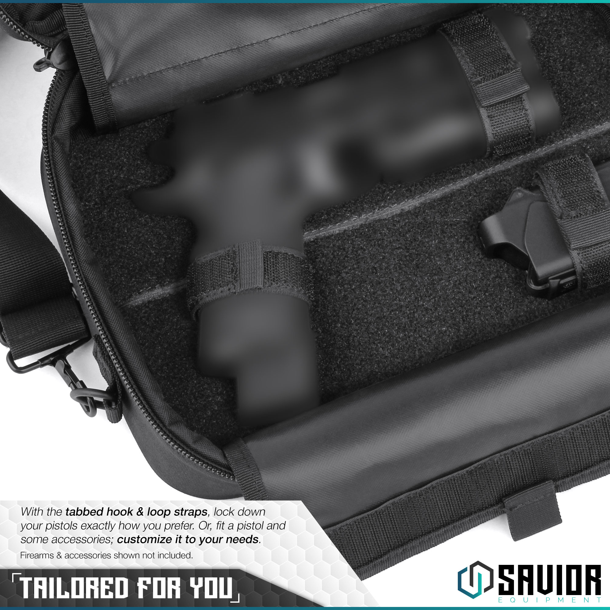 thumbnail 16 - 034-SAVIOR-034-Padded-Discreet-Double-Handgun-Bag-Pistol-Storage-Case-w-Mag-Pouch-Slot