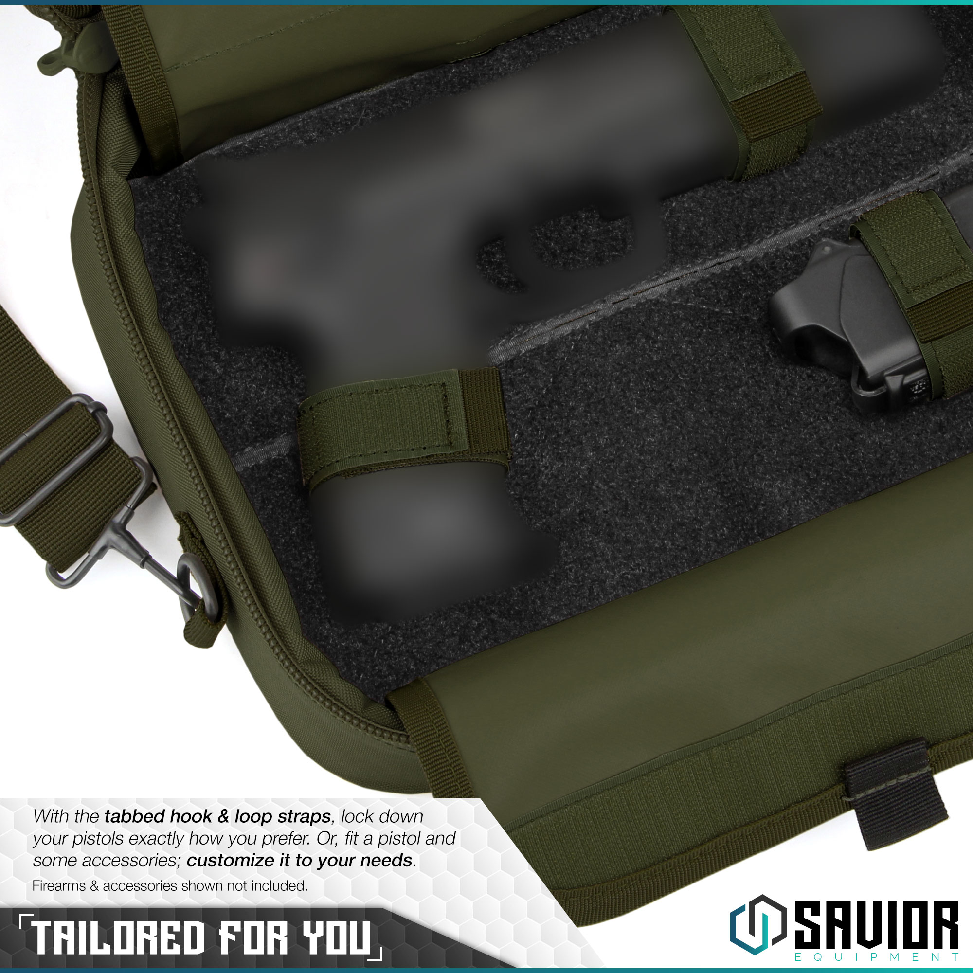 thumbnail 22 - 034-SAVIOR-034-Padded-Discreet-Double-Handgun-Bag-Pistol-Storage-Case-w-Mag-Pouch-Slot