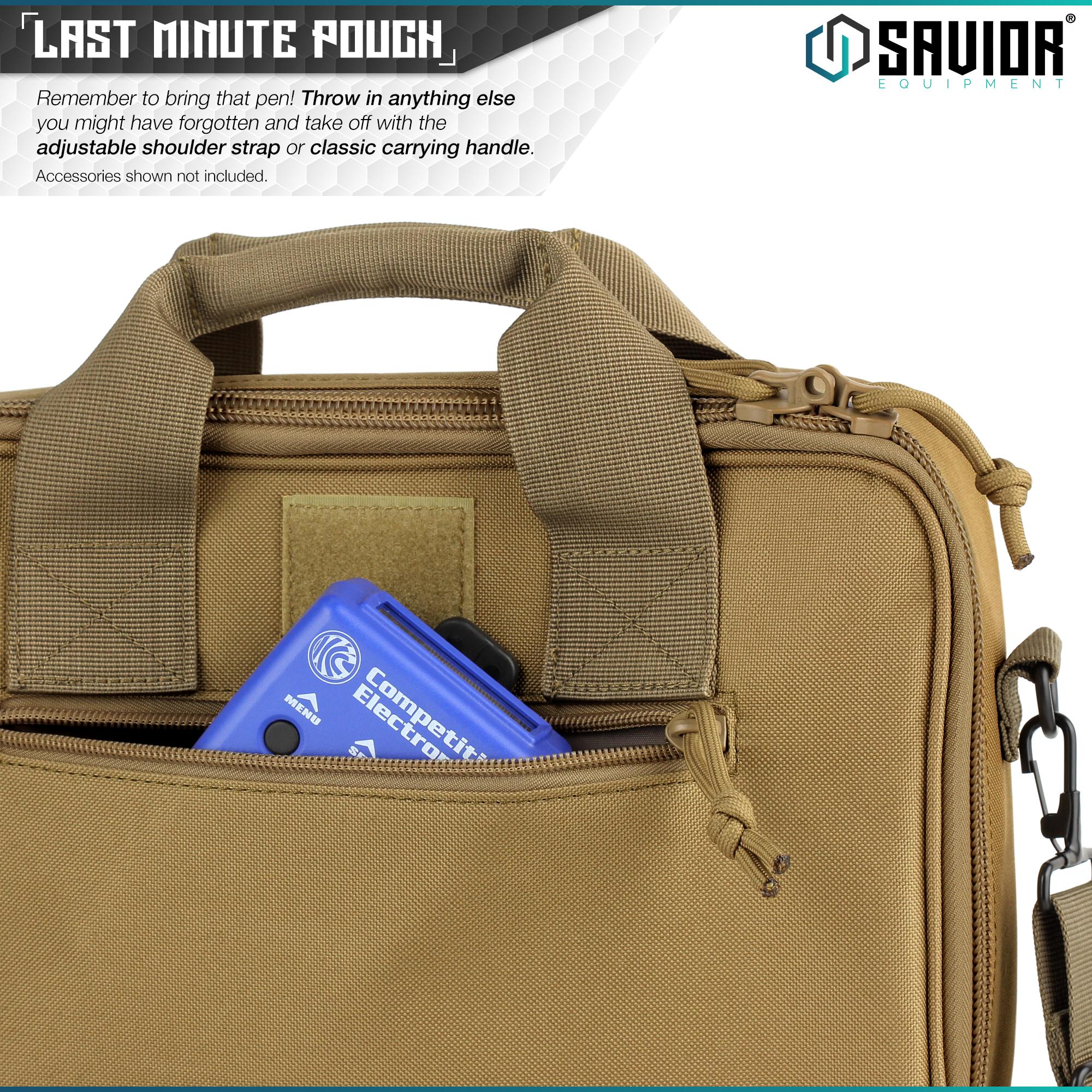 034-SAVIOR-034-Padded-Discreet-Double-Handgun-Bag-Pistol-Storage-Case-w-Mag-Pouch-Slot thumbnail 12