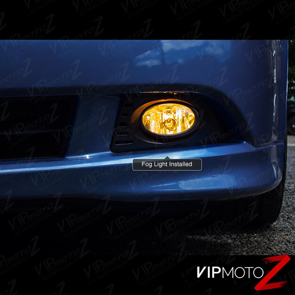 05-06 Acura RSX DC5 K20 JDM Hyper Yellow Fog Light Bumper