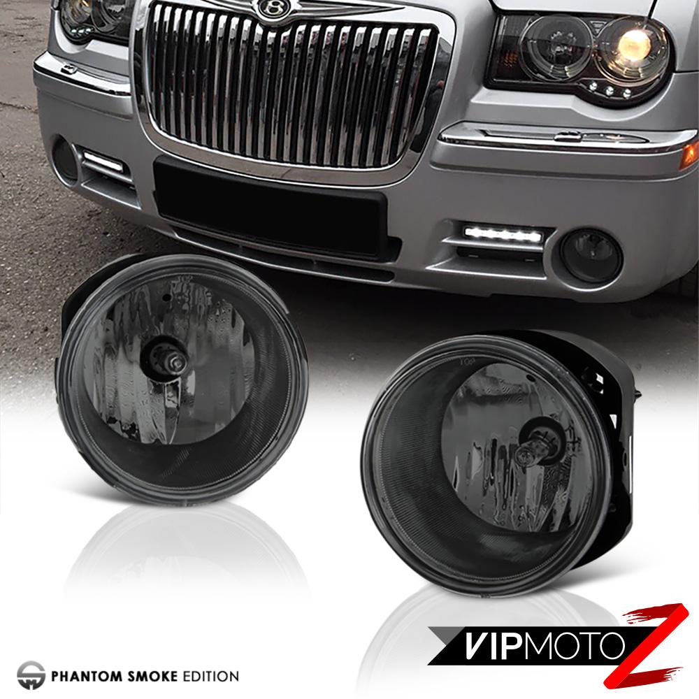 05 06 07 Chrysler 300C 5.7L Black New Left Right Headlamps