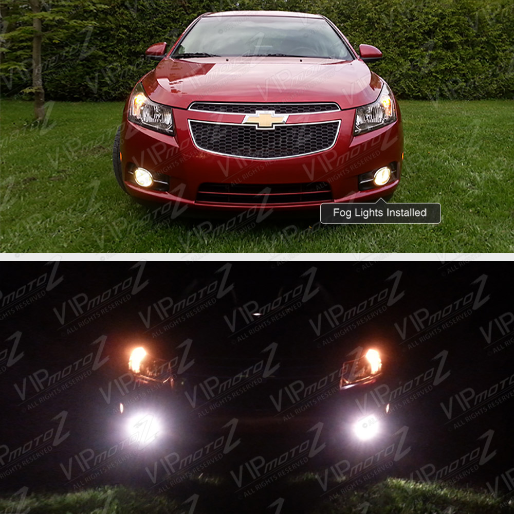 2011 2014 chevy cruze chrome front bumper driving fog fog light wiring kit