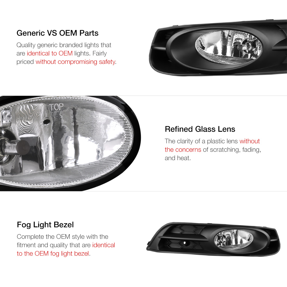 Crystal Clear L R Fog Light Bumper Lamp Wiring For 12