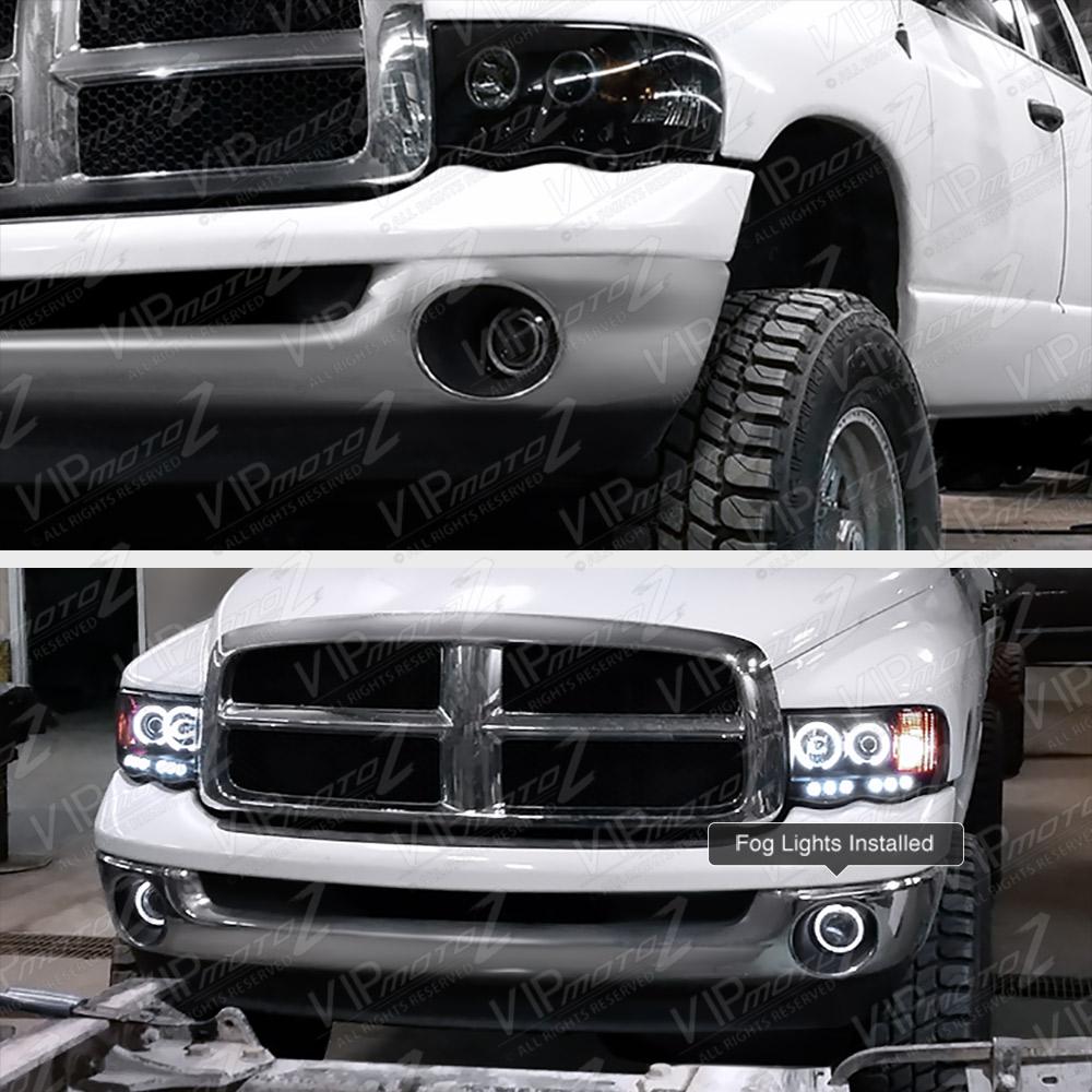 02-2008 Dodge RAM 1500/2500/3500 L+R Halo Projector Fog