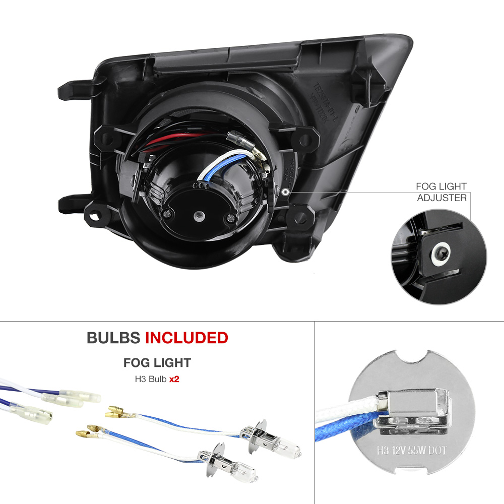 Toyota Tacoma Fog Light Wiring Harness Diagrams Trailer 2012 2013 2014 2015 Offroad Lights Black Interior Parts 1997 Engine