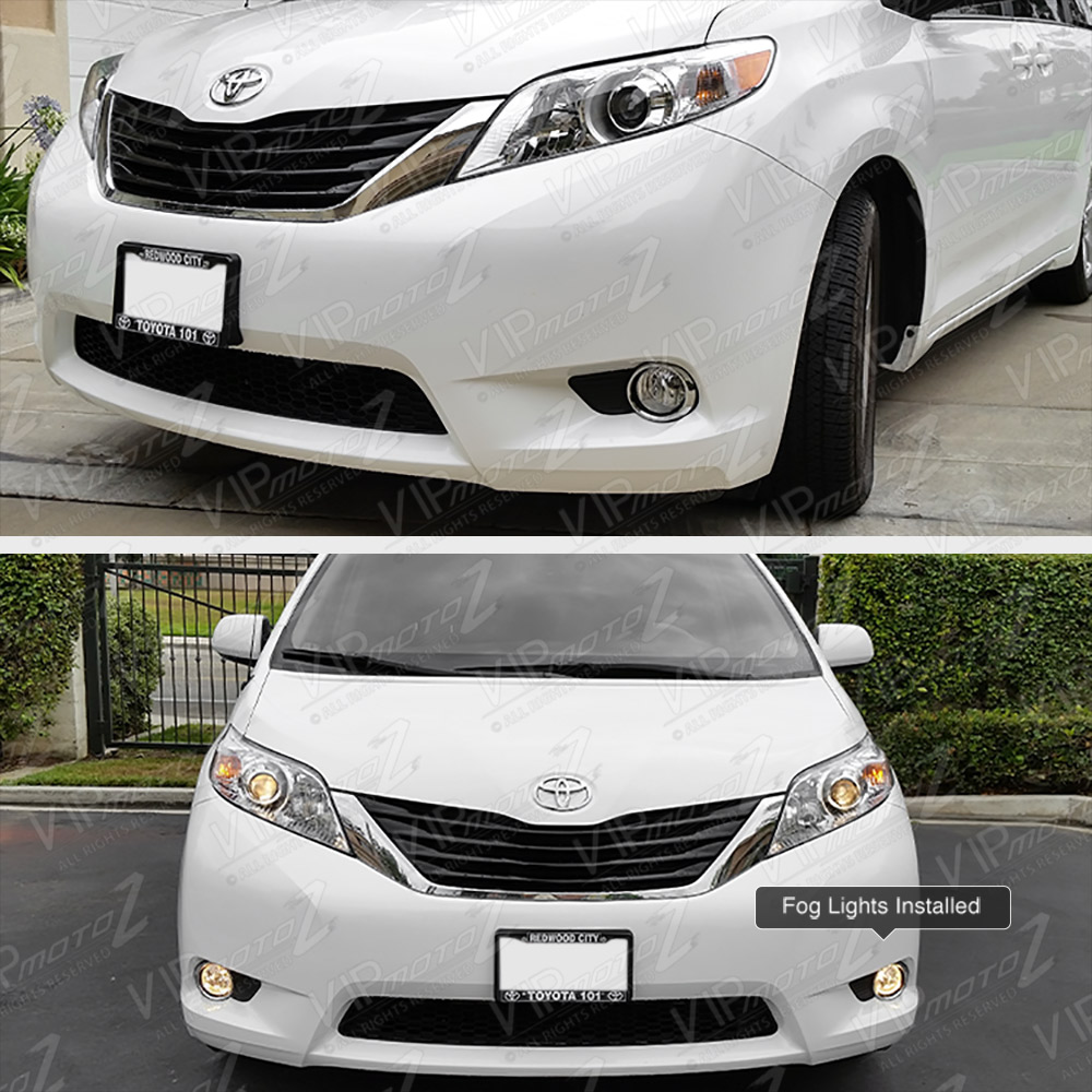 2016 Toyota Sienna Exterior: 11-16 Toyota Sienna Factory Style Chrome Clear Fog Lamp