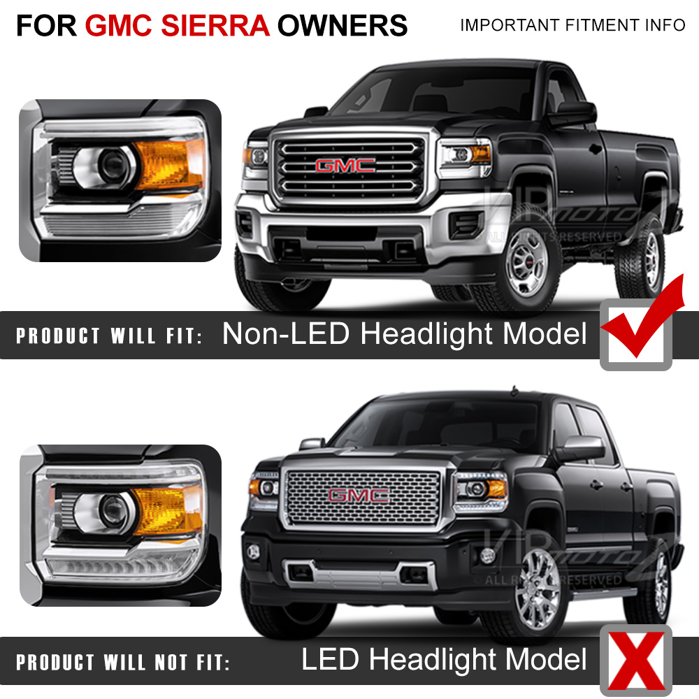 2014-2015 Gmc Sierra [fiber Optic] Led Neon Tube Black