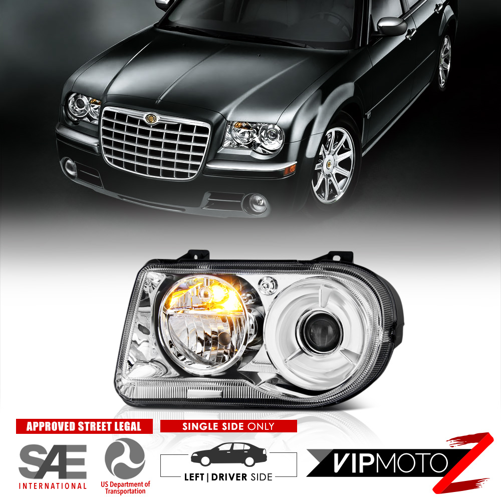 Chrysler 300c With Factory Halogen Headlights: 2005-2010 Chrysler 300C FACTORY STYLE Projector Headlights