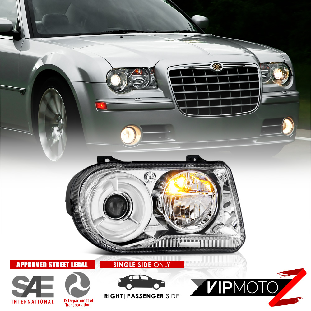 Chrysler 300c With Factory Halogen Headlights: 2005-2006-2007 Chrysler 300C [FACTORY STYLE] Front