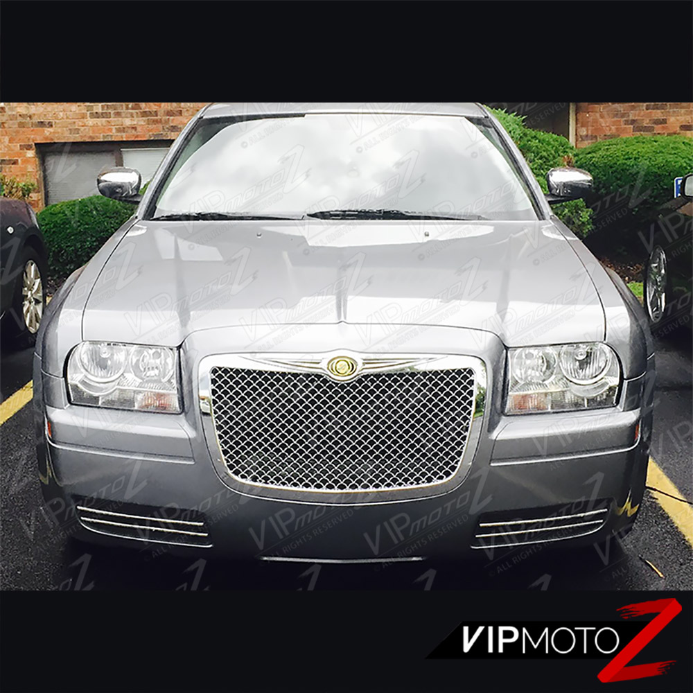Black 2005 2006 2007 2008 2009 2010 Chrysler 300c: 2005-2010 Chrysler 300 Factory Style Chrome Front LEFT