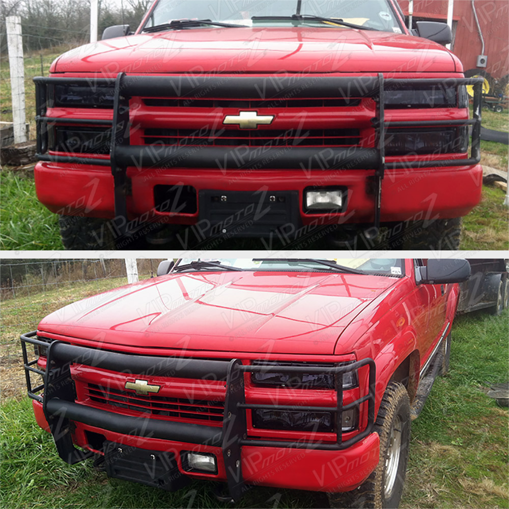 1994-1998 CHEVY C/K 1500/2500/3500 Smoke Headlight+Bumper