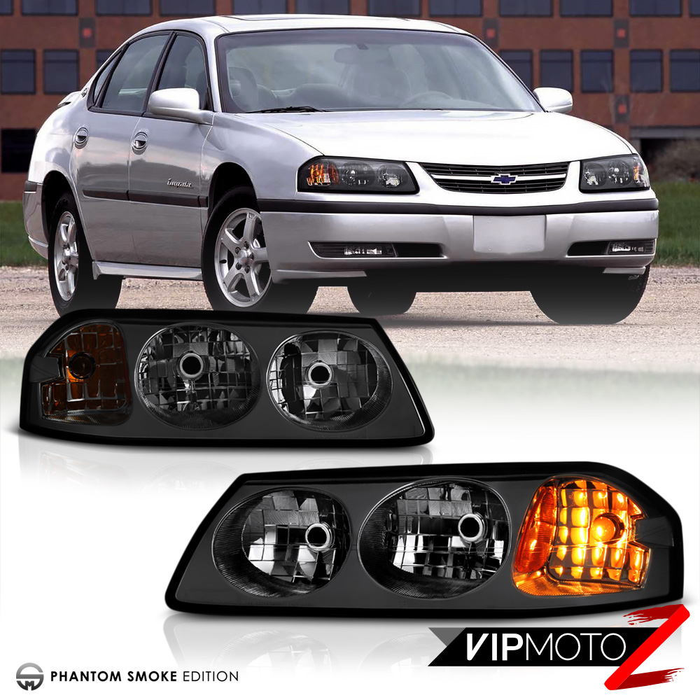 2000 2005 chevy impala ls ss base smoke front headlights. Black Bedroom Furniture Sets. Home Design Ideas