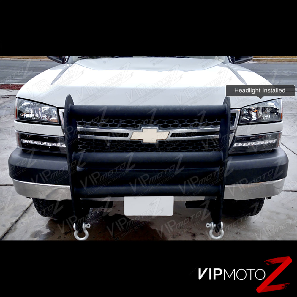2003 2006 chevy silverado avalanche 1500 2500 3500 black led signal head lights ebay. Black Bedroom Furniture Sets. Home Design Ideas