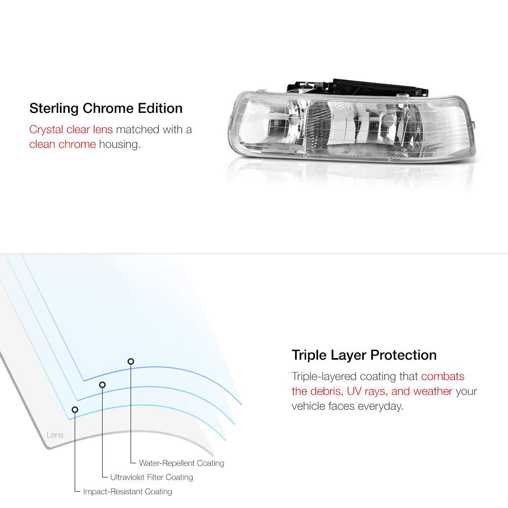 99 2002 chevy silverado 2500hd headlight turn signal drl. Black Bedroom Furniture Sets. Home Design Ideas